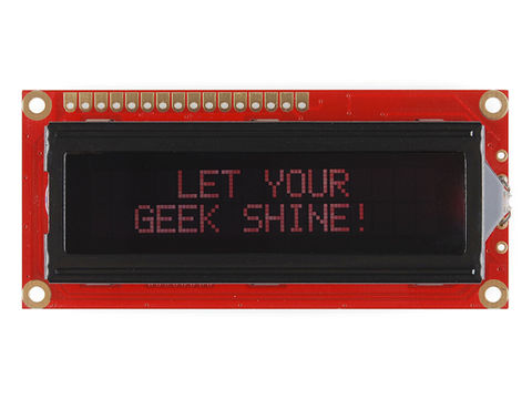 Basic 16x2 Character LCD - Red on Black 3.3V