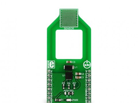 Mikroe Moisture Click - Skin Hydration and Moisture Capacitance Sensor - FDC2112