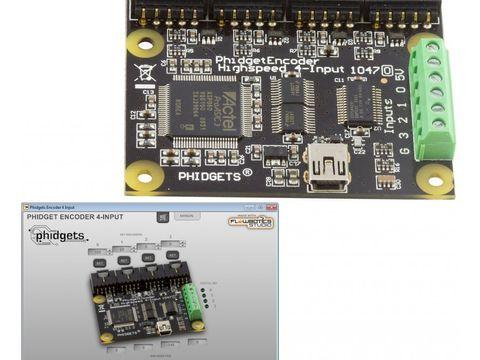 Phidgets USB Encoder 4-Input w/ FlowBotics App