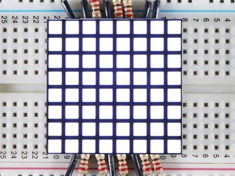 """1.2"""" 8x8 Matrix Square Pixel - White - KWM-R30881CWB-Y"""