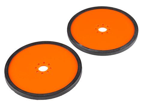 "Precision Disc Wheel - 4"" (Orange, 2 Pack)"