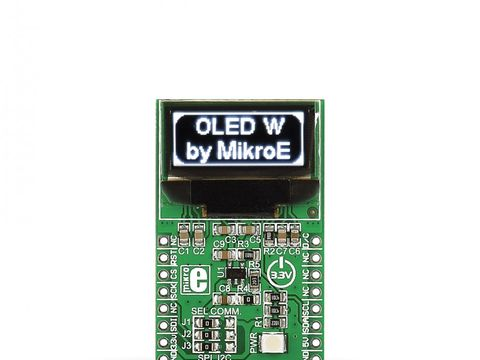 Mikroe OLED W click - 96 x 39px White Monochrome Passive Matrix OLED Display
