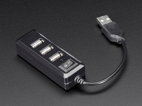 USB Mini Hub with Power Switch