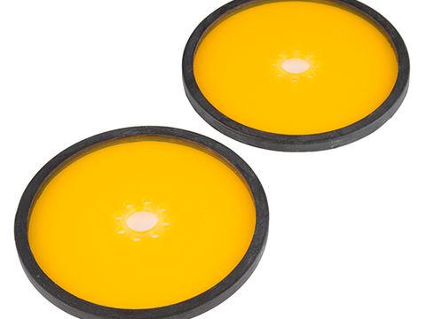 "Precision Disc Wheel - 4"" (Clear Orange, 2 Pack)"