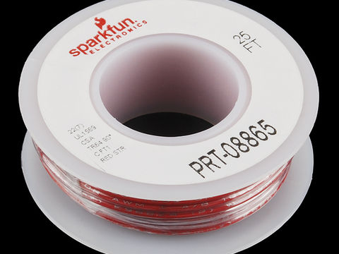 Sparkfun Hook-up Stranded Wire - Red (22 AWG)