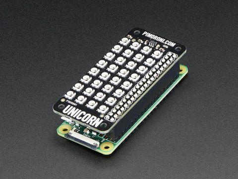 Pimoroni Unicorn pHAT - 4x8 RGB LED Shield for Raspberry Pi