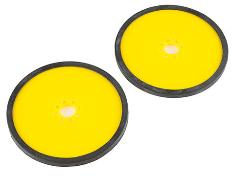 "Precision Disc Wheel - 4"" (Yellow, 2 Pack)"