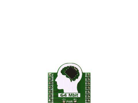 Mikroe SQI FLASH click - 64 Mbit Serial Quad I/O Flash Module - SST26VF064B,