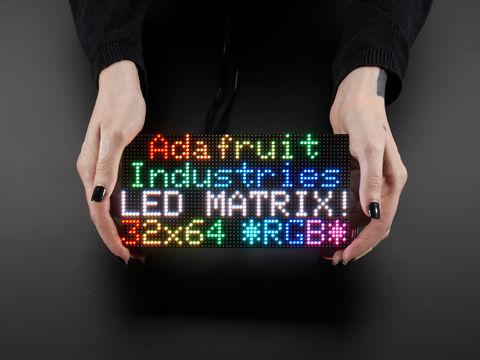 64x32 RGB LED Matrix - 4mm pitch