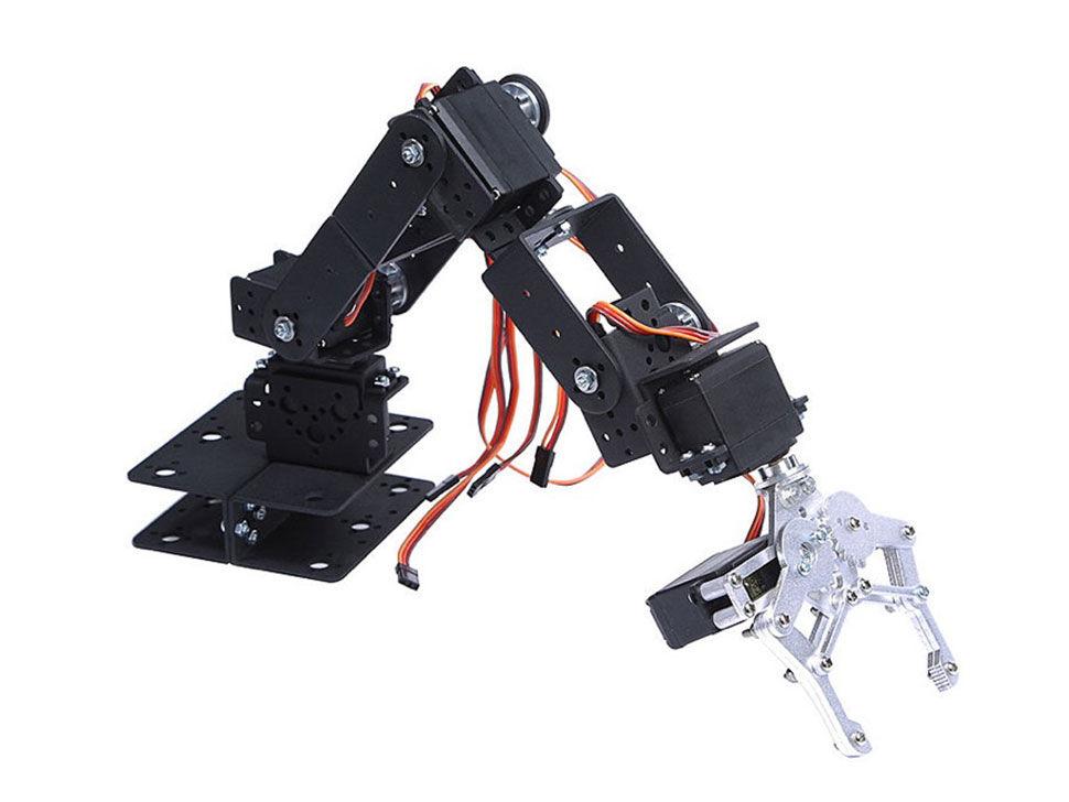 6 DOF Robotic Arm Kit - With Servo Motors - Unassembled