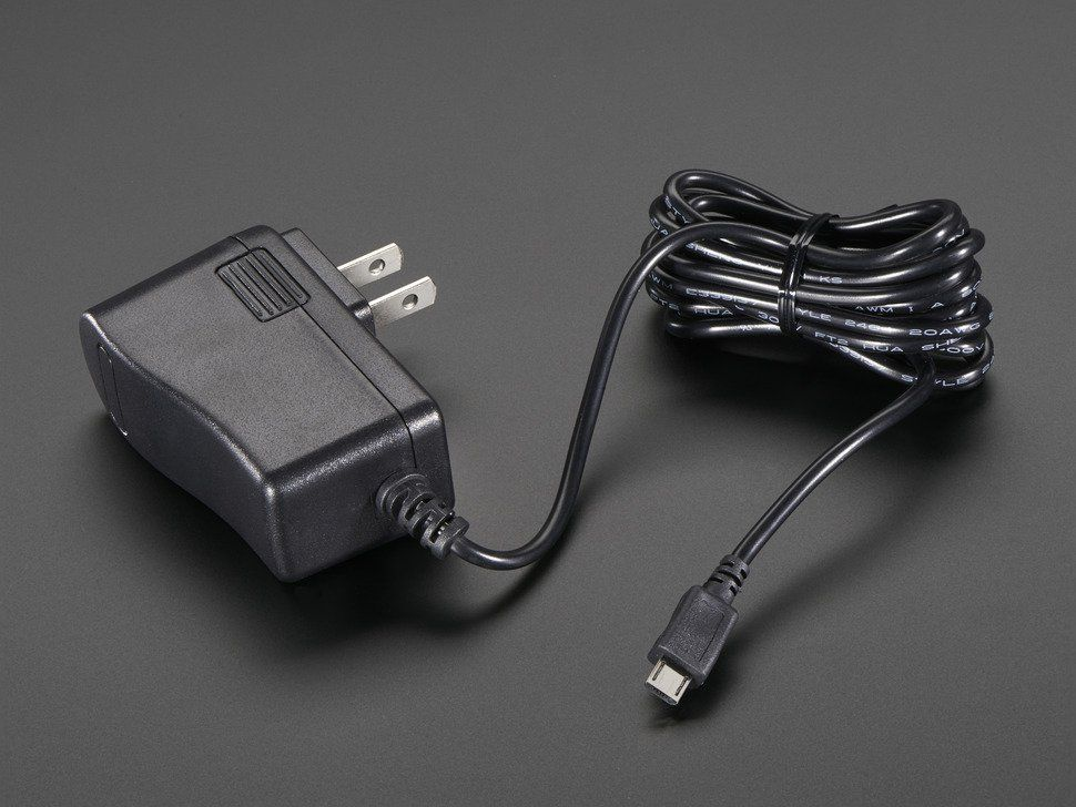 5V 2 4A Switching Power Supply with 20AWG MicroUSB Cable