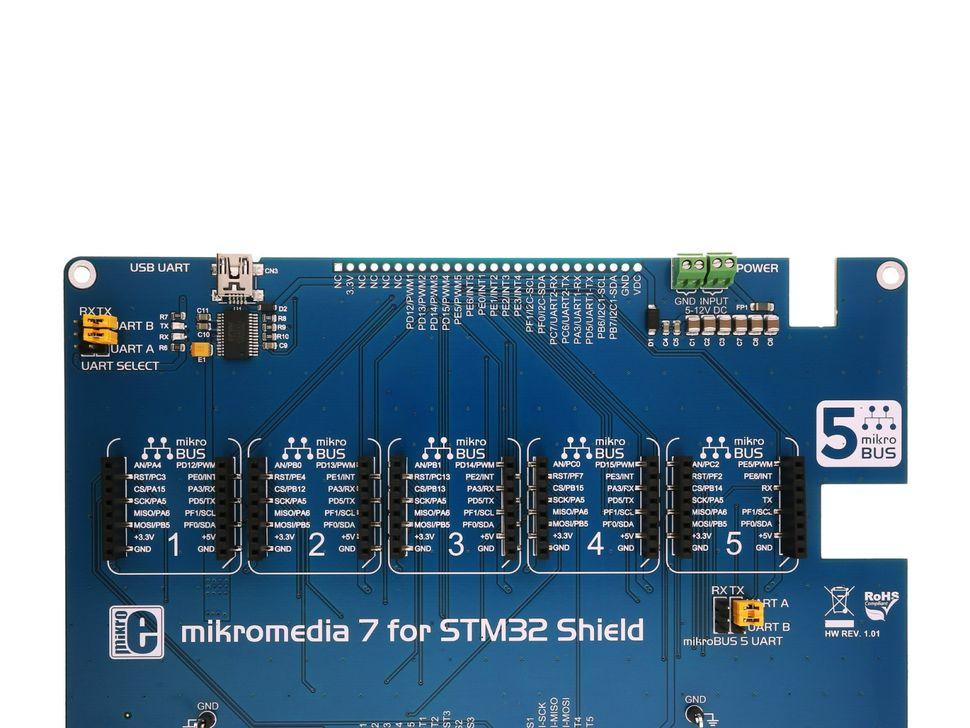 Mikroe mikromedia 7 for STM32 Shield