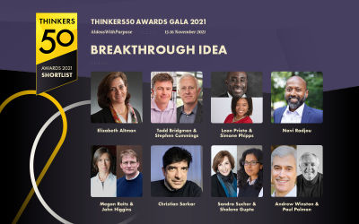 Announcing the Thinkers50 2021 Breakthrough Idea Award Shortlist