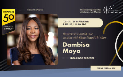 Thinkers50 Curated Linkedin Live Session with Dambisa Moyo