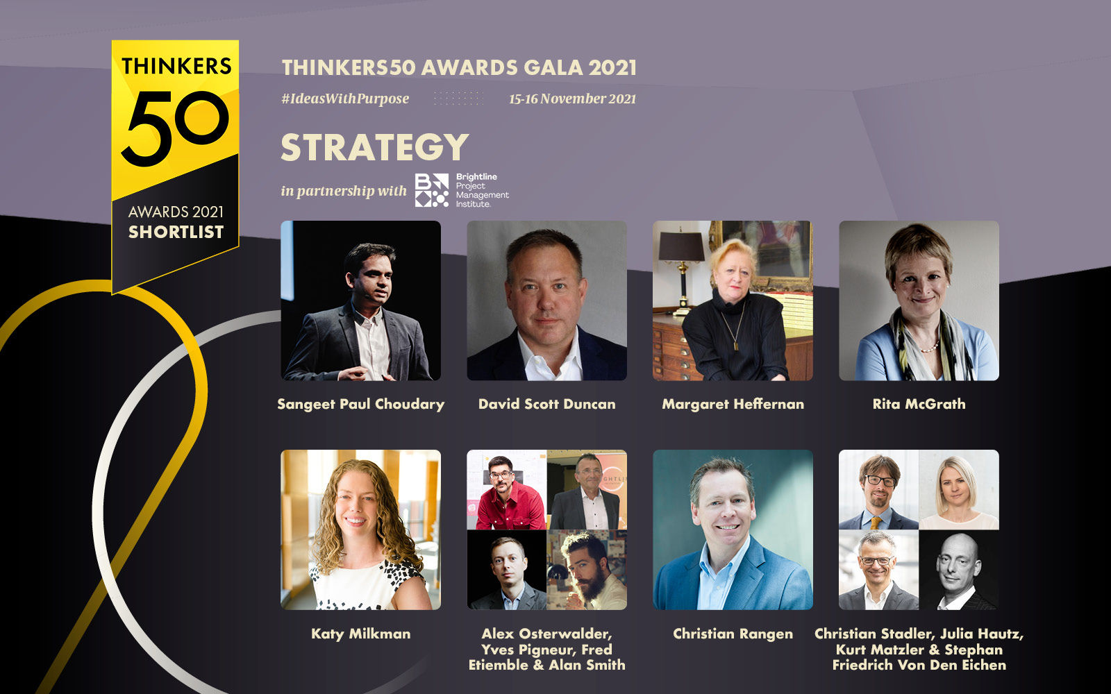 Thinkers50 Strategy Shortlist for 2021