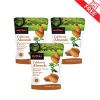 Nutraj California Almonds 250G (Pack Of 3)