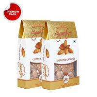 Nutraj Signature - California Almonds Plain - 200G (Pack Of 2)