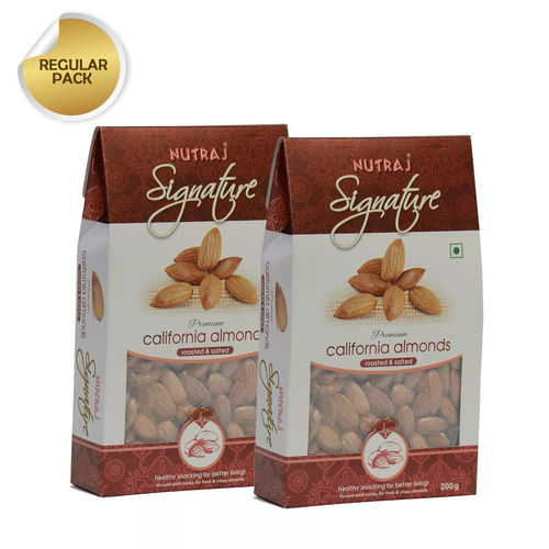 Nutraj Signature Roasted And Salted California Almonds 200G (Pack Of 2)
