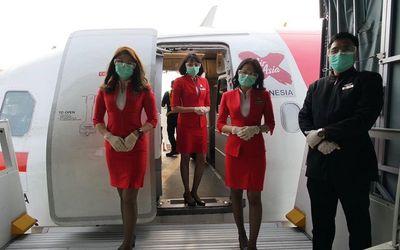 Maskapai Penerbangan AirAsia Indonesia akan kembali terbang terbatas pada 19 Juni 2020. / Facebook @...