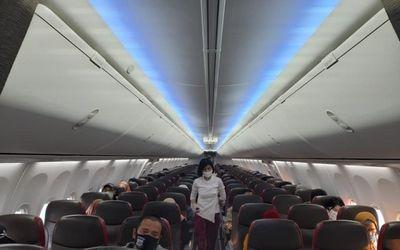 Kabin pesawat Lion Air saat membawa penumpang masa pandemi COVID-19. / Lionair.co.id\n