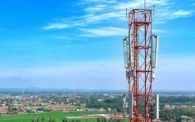Ilustrasi menara Base Transceiver Station (BTS) PT Dayamitra Telekomunikasi (Mitratel) / Facebook @M...