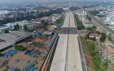 Pembangunan Tol Cengkareng-Batuceper-Kunciran. / Dok. Kementerian PUPR\n