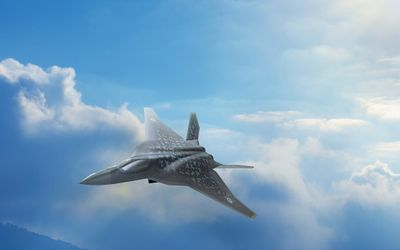 Rendering jet tempur masa depan Jepang/Foto: Photos: Japanese Defense Ministry\n