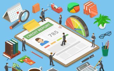 Ilustrasi skor kredit di pinjaman online fintech P2P Lending / Shutterstock\n