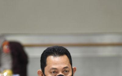 Calon Kapolri Komjen Pol Listyo Sigit Prabowo mengikuti Uji Kelayakan dan Kepatutan Calon Kapolri di...