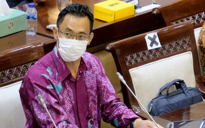 Sekretaris Jenderal Asosiasi Fintech Pendanaan Bersama Indonesia (AFPI), Sunu Widyatmoko mengikuti R...