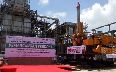 Pembangunan proyek RDMP RU VI Balongan milik PT Pertamina (Persero) / Dok. Pertamina\n