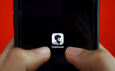 FILE PHOTO: The social audio app Clubhouse is seen on a mobile phone in this illustration picture ta...