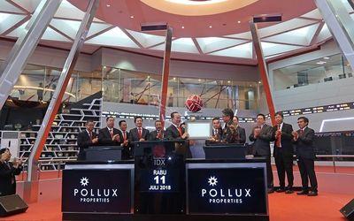 Manajemen PT Pollux Properti Indonesia Tbk (POLL) di Bursa Efek Indonesia / Dok. BEI\n