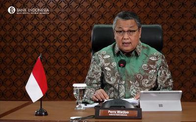 Gubernur Bank Indonesia, Perry Warjiyo dalam Rapat Dewan Gubernur (RDG) BI secara virtual, Kamis, 18...