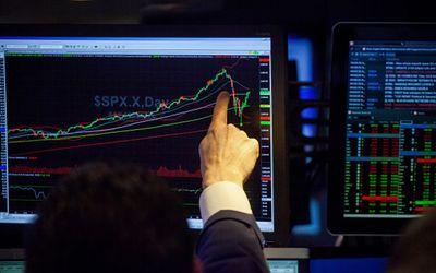 Bursa saham di Wallstreet/Bloomberg\n