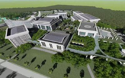 Pradesain Istana Negara di calon ibu kota baru di Kalimantan Timur / YouTube Presiden Joko Widodo\n