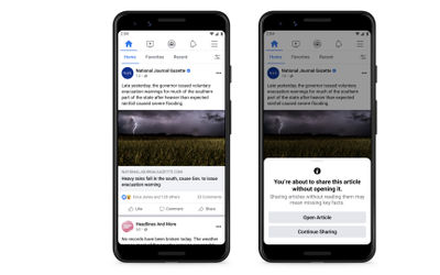 Susul kebijakan Twitter, Facebook uji fitur baru agar pengguna membaca artikel sebelum membagikannya...