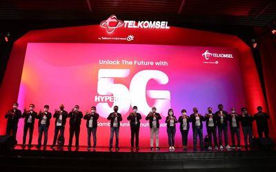 Peluncuran jaringan 5G Telkomsel / Dok. Telkomsel\n