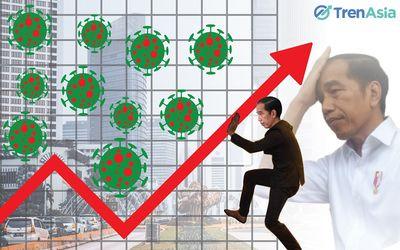 Ilustrasi pemerintah berupaya menahan dampak COVID-19 terhadap pertumbuhan ekonomi nasional.  Grafis...