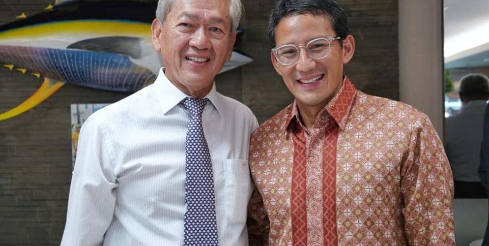 Konglomerat Edwin Soeryadjaya dan Sandiaga Salahuddin Uno sebagai pemilik perusahaan investasi PT Saratoga Investama Sedaya Tbk (SRTG) / Facebook @SandiSUno\n