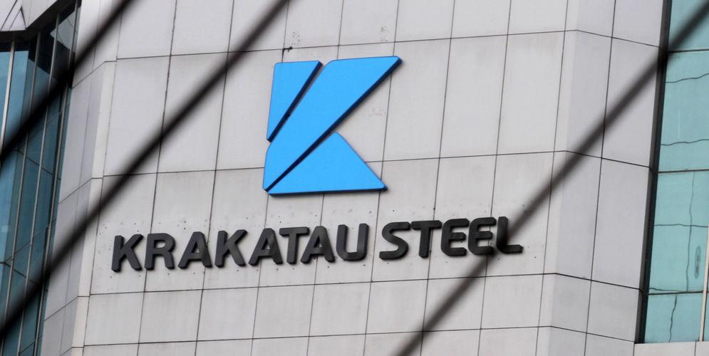 Gedung Krakatau Steel di kawasan Gatot Subroto Kuningan. Foto: Panji Asmoro/TrenAsia\n