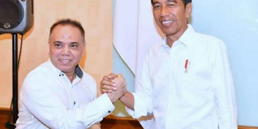 Haidar Alwi sebagai relawan Jokowi dalam Pilpres 2019 / Istimewa\n