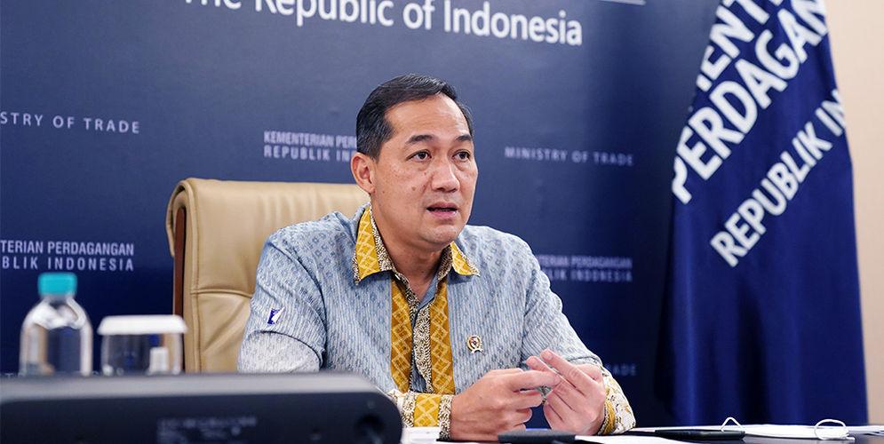 Menteri Perdagangan, Muhammad Lutfi memberikan pengarahan pada Rapat Kerja Kementerian Perdagangan di Kantor Kementerian Perdagangan, Jakarta, Kamis (4 Mar).\n