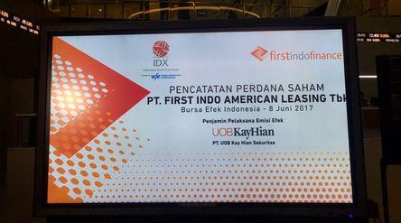 Pencatatan Perdana Saham PT First Indo American Leasing Tbk (FINN) sebagai emiten ke- 544 di BEI (Su...