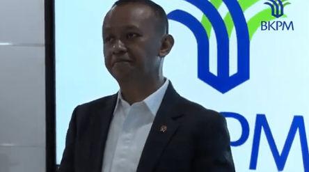 Ilustrasi. Kepala Koordinasi Bidang Penanaman Modal (BKPM) Bahlil Lahadalia dalam konferensi video d...