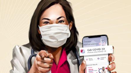 Rapid test dapat dilakukan lewat telemedicine Halodoc. / Facebook @HalodocID\n
