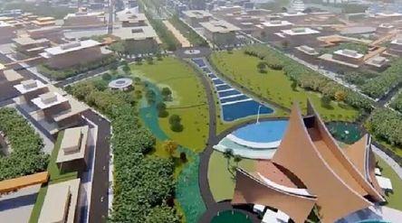 Desain pemenang pertama ibu kota baru bernama Nagara Rimba Nusa. / Pu.go.id\n