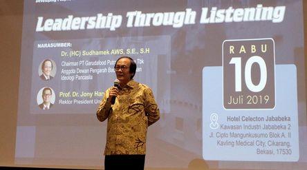 Chairman PT Garudafood Putra Putri Jaya Tbk. Sudhamek Agoeng Waspodo Soenjoto. / Garudafood.com\n