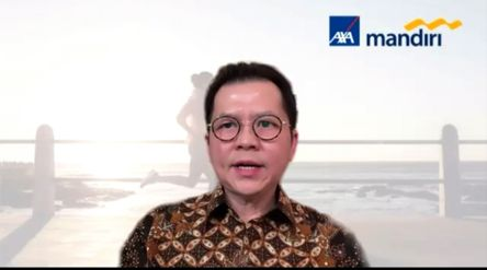 Direktur Axa Mandiri Handojo Kusuma. / Tangkapan layar TrenAsia.com\n