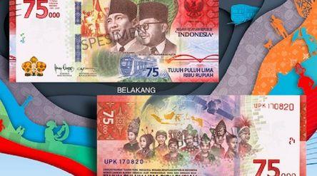 Uang kertas rupiah baru edisi HUT ke-75 RI. / Bi.go.id\n